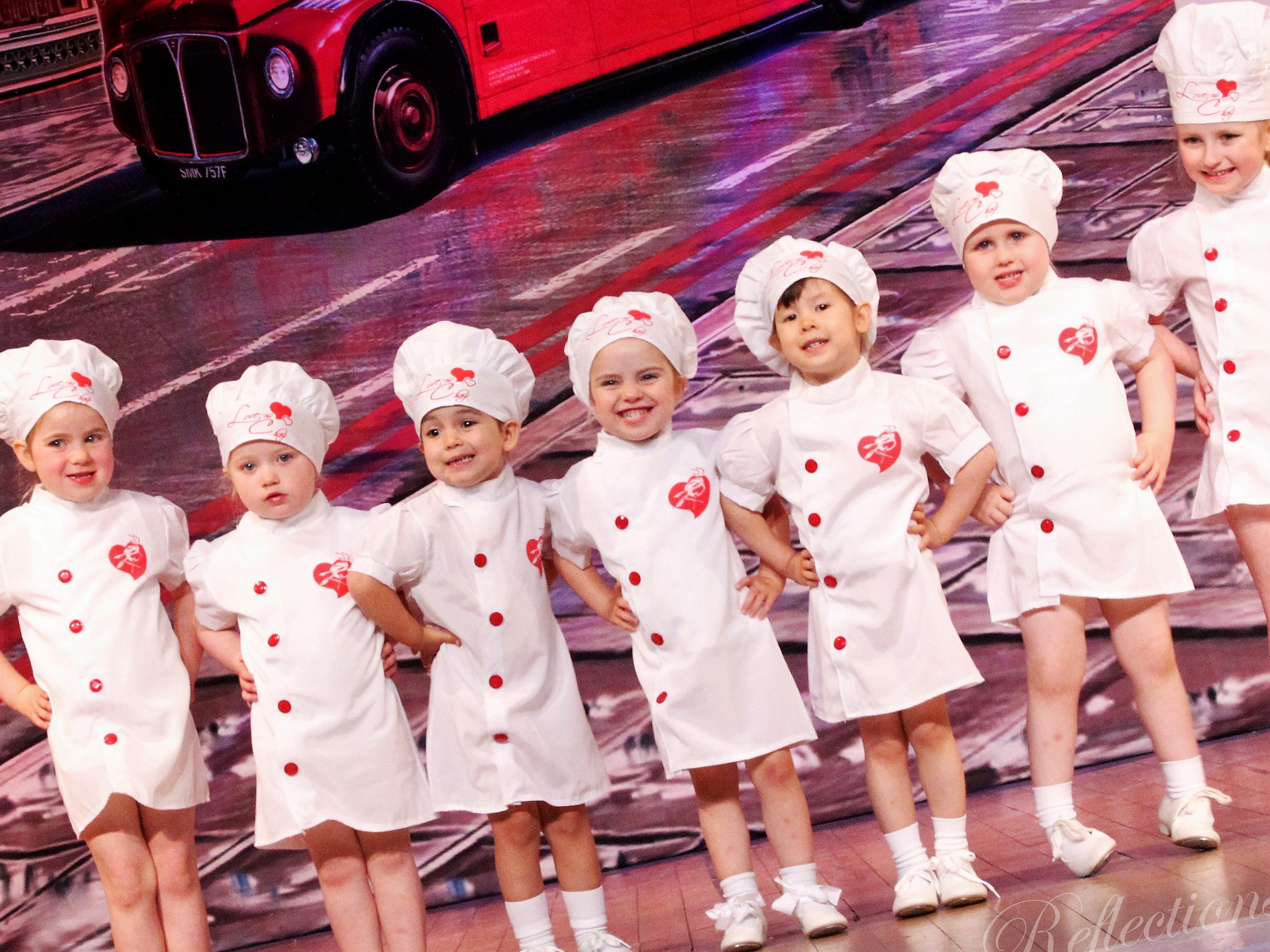 Toddler tap dancers at SK Dance Studio, Wigan