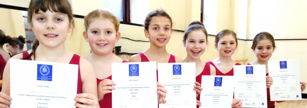 SK Dance Studio celebrating outstanding ISTD tap exam results - all mertits & distinctions.