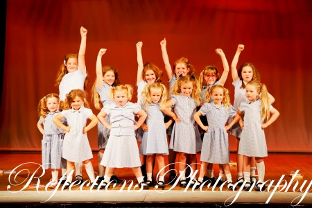 "SK Dance Studio's Glee Club performing a ""Matilida"" inspired medley"