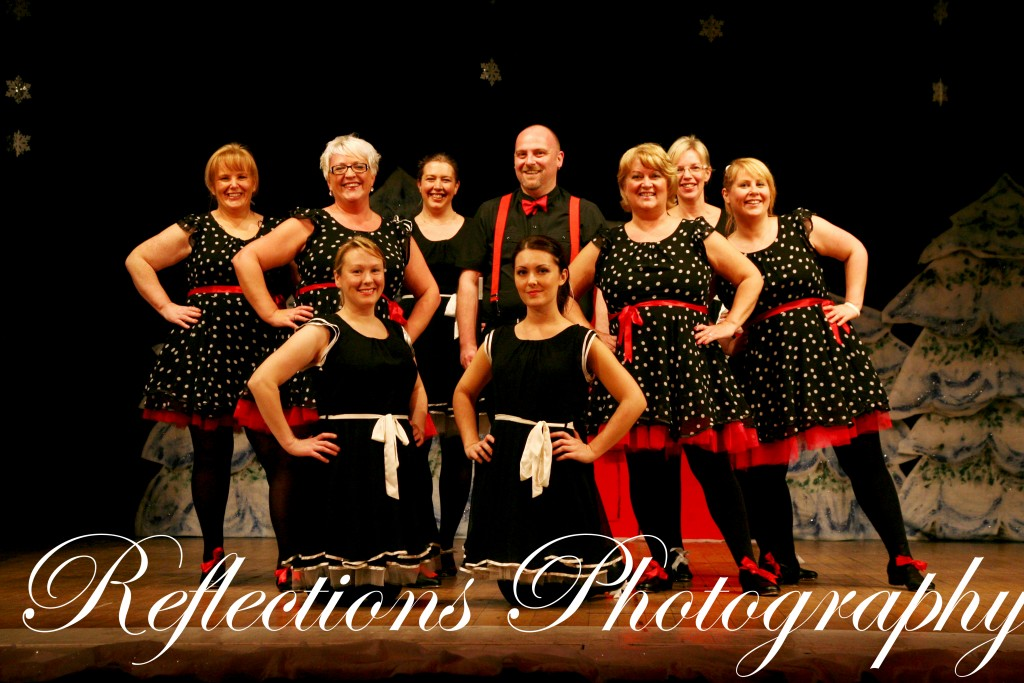 """Adult Tap"" show dance from SK Dance Studio's ""Winter Wonderland"" show"