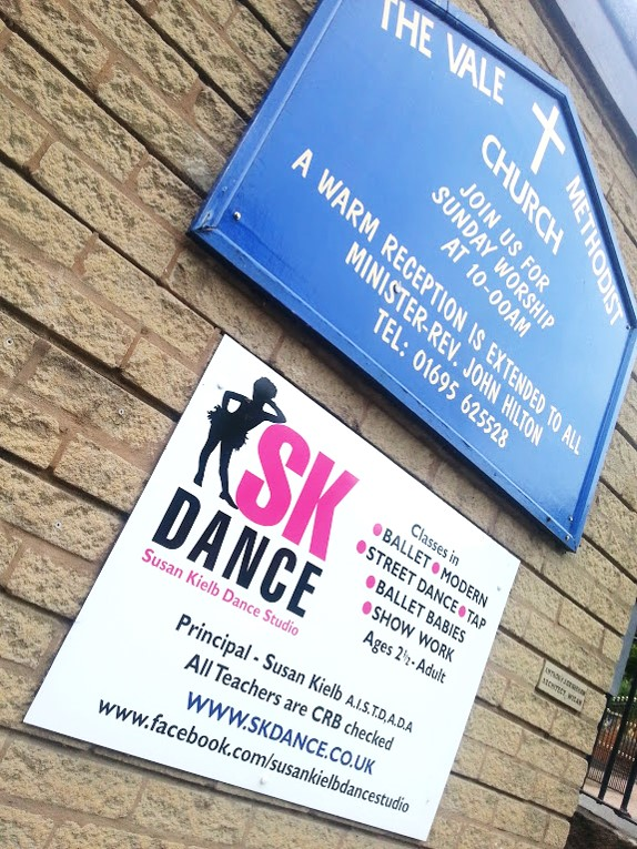Entrance to SK Dance Studio Wigan at The Vale Methodist Church, Appley Bridge