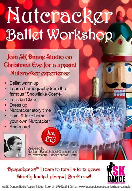 Nutcracker Ballet Workshop at SK Dance Studio in Wigan, Christmas Eve 2016