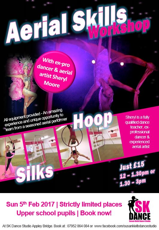Aerial Skills Workshop at SK Dance Studio Wigan on February 5th 2017
