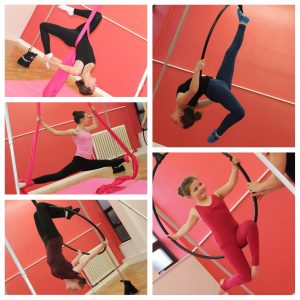Aerial hoops and aerial silks workshop at SK Dance Studio, Wigan