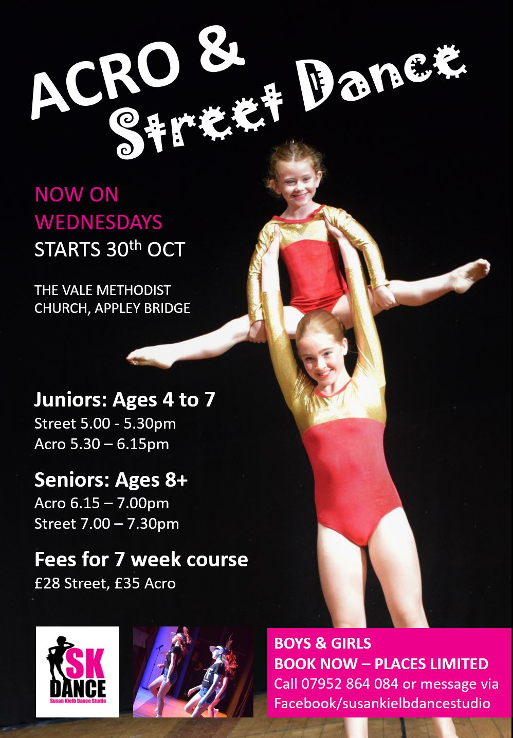 Acro and street dance classes for kids of all ages at SK Dance Studio, Wigan