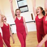 Dancers cheering at SK Dance Studio Wigan