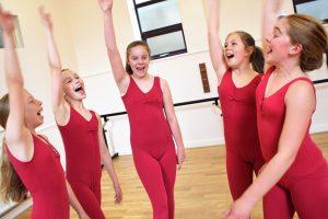 Dancers cheering at SK Dance Studio Wigan